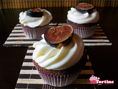 Cupcakes integrali ai fichi
