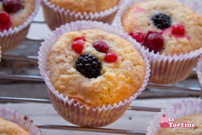 Cupcakes allo yogurt e frutti di bosco