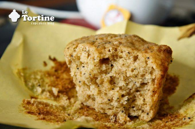Muffin Integrali al cedro e semi di papavero