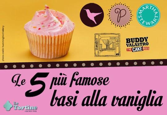Le 5 più famose ricette base di cupcakes alla vaniglia