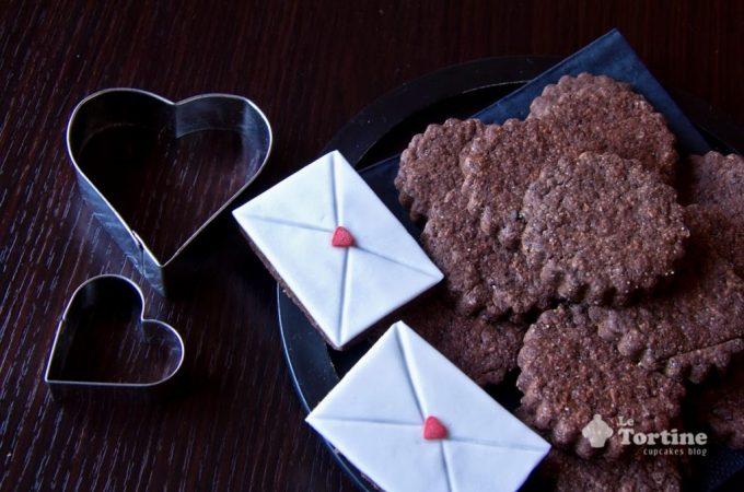 San Valentino: Biscotti lettera d'amore