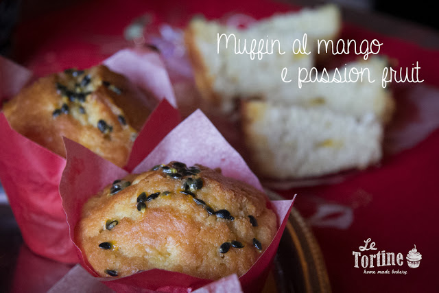 Muffin al mango e passion fruit