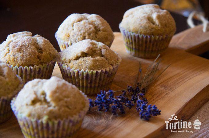 Muffin di grano saraceno alla lavanda