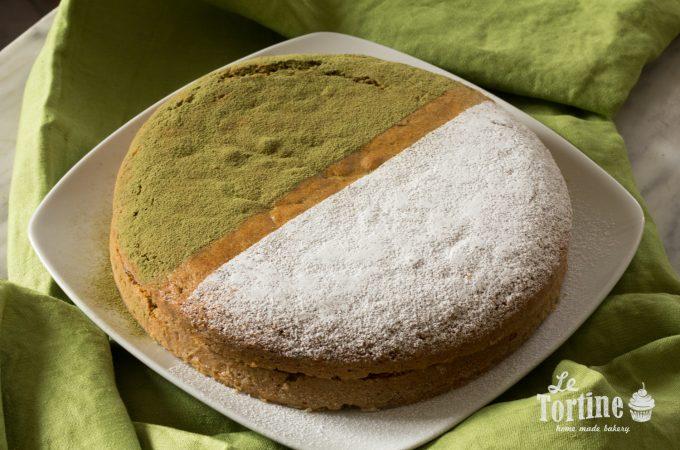 Torta al té matcha e composta di kiwi