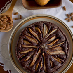 Crostata brownie alle pere